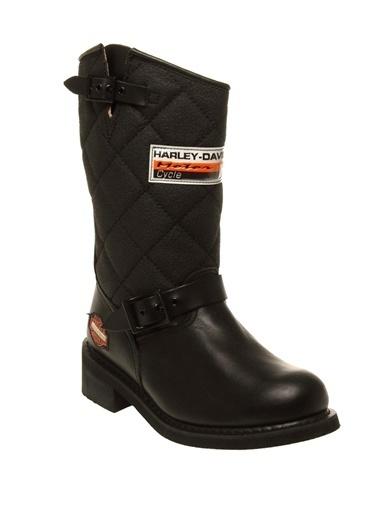 Harley Davidson Bot Siyah